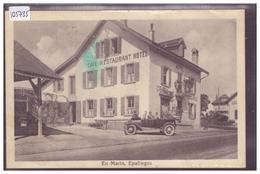 DISTRICT DE LAUSANNE - EPALINGES - EN MARIN - RESTAURANT CROIX FEDERALE - AUTOMOBILE - TB - VD Vaud
