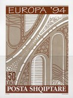 Autobahn-Brücke 1994 Shqiperia Block 101 ** 5€ Europa Verkehrsprojekt Hojitas S/s Bloc Art Sheet M/s Bridge Bf CEPT - Albania