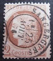R1680/89 - CERES N°51 - SUPERBE CACHET A DATE : SANCERGUES (Cher) 25 AOÛT 1876 - 1871-1875 Ceres