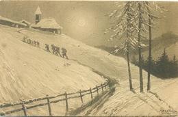 Alpini In Marcia Disegnatore Bertiglia - Reggimenti