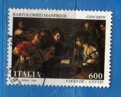 Italia ° - 1993 -  I TESORI Dei MUSEI. Lire 600.  Unif.2113.   Vedi Descrizione - 6. 1946-.. Republik