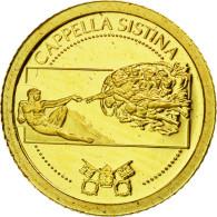 Liberia, 12 Dollars, Chapelle Sixtine, 2010, FDC, Or - Liberia