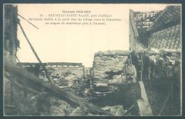 62 Neuville Saint Vaast Près D'Arras Barricade établie à La Sortie Sud Du Village - Non Classés