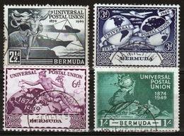 Bermuda 1949 George VI Set Of Stamps To Celebrate The 75th Anniversary Of The UPU. - Bermuda