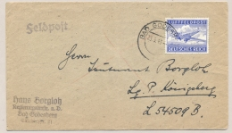 Deutsches Reich - 1943 - Luftfeldpost Marke On Cover From Bad Godesberg To Königsberg - Briefe U. Dokumente