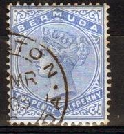 Bermuda 1883 Queen Victoria  Single Stamp With 2½d On Pale Ultramarine. - Bermuda