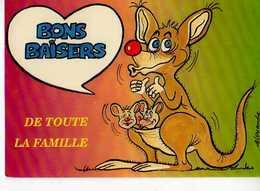 ALEXANDRE  Bons Baisers De Toute La Famille, Kangourou Et Ses Bebes, 988-3 - Alexandre