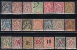 1906 - 1912   YVERT Nº 1 / 15, 17 / 22, - Moheli (1906-1912)