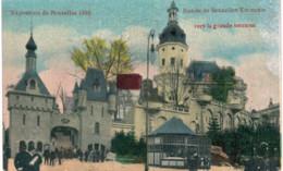 Bruxelles   Exposition 1910 Entrée De Bruxelles Kermesse - Wereldtentoonstellingen
