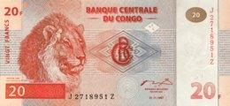 Congo 20 Francs, P-88Ar (1997) - Replacement Note - (UNC) - Kongo