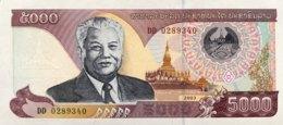 Laos 5.000 Kip, P-34r2 (2003) - Replacement Note - (UNC) - Laos