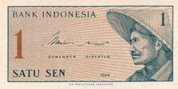 Indonesia 1 Sen, P-90r (1964) - Replacement Note - (UNC) - Indonesien