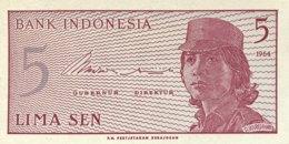 Indonesia 5 Sen, P-91r (1964) - Replacement Note - (UNC) - Indonesien