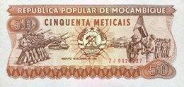 Mozambique 50 Meticais, P-129br (1986) - Replacement Note - (UNC) - Moçambique