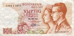 Belgium 50 Francs, P-139r (1966) - Replacement Note - (VF) - [ 2] 1831-...: Belg. Königreich