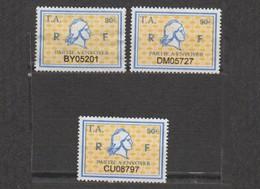 Série Timbres Fiscaux -  3 Timbres Amende Millésime 01 - 02 - 03 - Revenue Stamps