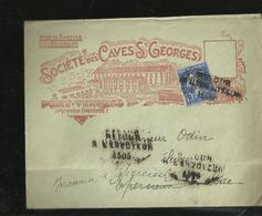 Vins De Banyuls Societe Des Caves De St Georges Cachet  Retour A L Envoyeur 1505 - Storia Postale