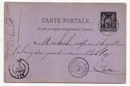 1880 - Entier Carte Postale SAGE 10c Noir- Cachets REQUISTA - Aveyron --ALBI - Tarn - Entiers Postaux