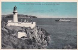 ONCHAN HEAD FROM DOUGLAS HEAD LIGHTHOUSE . SLOGAN - Isle Of Man