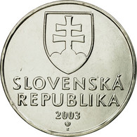 Monnaie, Slovaquie, 2 Koruna, 2003, TTB, Nickel Plated Steel, KM:13 - Slovaquie