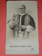 NB - 2808 / PAULUS VI - Papa PAOLO VI  Montini Concesio Brescia - SantIno Monocromo  - - Santini