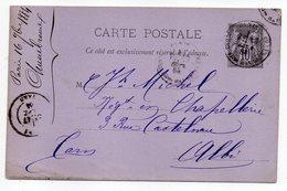 1881-- Entier Carte Postale SAGE 10c Noir- Cachets  PARIS  --75----ALBI - Tarn - Entiers Postaux