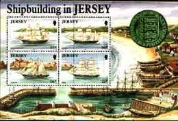 72559)  JERSEY 1992 SG583. Minisheet. Gomma Integra, Non Linguellato --- Costruzioni Navali. - Jersey