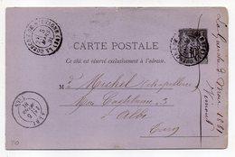 1881-- Entier Carte Postale SAGE 10c Noir- Cachets  LA GUERCHE DE BRETAGNE-Ile Et Vilaine  --ALBI - Tarn - Entiers Postaux