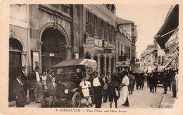 GIBRALTAR-POST OFFICE AND MAIN STREET-NON VIAGGIATA - Gibilterra