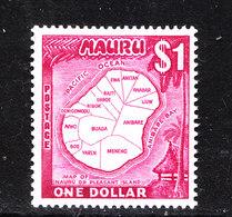 Nauru  -  1966. Carta Geografica Dell' Isola. Map Of The Island.. MNH - Geografia