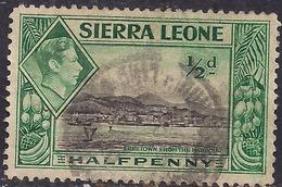 Sierra Leone 1938 - 44 KGV1 1/2d Green & Black SG 188 ( G1483 ) - Sierra Leone (...-1960)