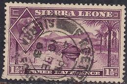 Sierra Leone 1938 - 44 KGV1 1 1/2d Mauve SG 190a ( G1485 ) - Sierra Leone (...-1960)