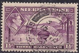 Sierra Leone 1938 - 44 KGV1 1 1/2d Mauve SG 190a ( G1486 ) - Sierra Leone (...-1960)