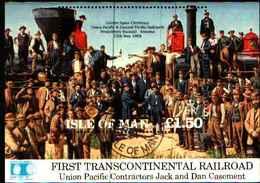 72563) MAN 1992 - FERROVIA TRANSCONTINENTALE - TRENI - TRAIN - £ 1,50 - FOGLIETTO-USATO - Isola Di Man