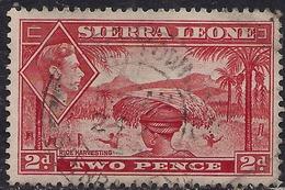 Sierra Leone 1938 - 44 KGV1 2d Scarlet SG 191a ( G1491 ) - Sierra Leone (...-1960)