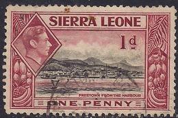 Sierra Leone 1938 - 44 KGV1 1d Lake & Black SG 189 ( G1492 ) - Sierra Leone (...-1960)