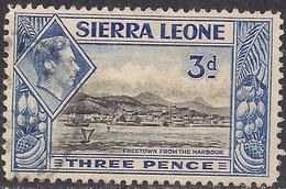 Sierra Leone 1938 - 44 KGV1  3d Black & Ultramarine SG 192 ( G1498 ) - Sierra Leone (...-1960)