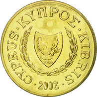 Monnaie, Chypre, 10 Cents, 2002, SPL, Nickel-brass, KM:56.3 - Chypre