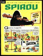 """SPIROU N° 1397 -  Année 1965 -  Couverture """" GASTON """" De FRANQUIN, Et """" DOCTEUR GLADSTONE """" De JIGE. - Spirou Magazine"""