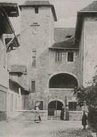 Cpa 74 ANNECY Animée ,  ENTREE DES VIEILLES PRISONS . HAUTE SAVOIE . EDITEUR L.F - Annecy