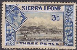 Sierra Leone 1938 - 44 KGV1  3d Black & Ultramarine MM SG 192 ( H1000 ) - Sierra Leone (...-1960)