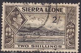 Sierra Leone 1938 - 44 KGV1 2/-d Black & Sepia SG 197 ( G1496 ) - Sierra Leone (...-1960)