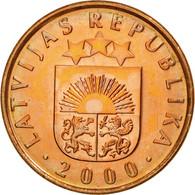 Monnaie, Latvia, 2 Santimi, 2000, SPL, Copper Clad Steel, KM:21 - Lettonie