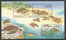 1997 Fiji - Lifecicle Of The Turtles At Fiji - Hawksbill Sea Turtle - MS MNH** Mi Block 22 (kk) - Fiji (1970-...)