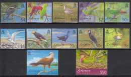 2001 Solomon Island - Birds Of Solomon Island - Set Of 12 V MNH** MiNr. 1033 - 1044 (kk) KW 50 Mie - Salomoninseln (Salomonen 1978-...)