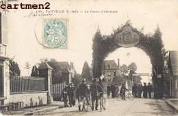 FAUVILLE LA ROUTE D'ALVIMARE FETE DECORATIONS 76 SEINE-MATIRIME - France