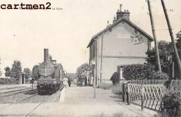 LES LOGES LA GARE TRAIN LOCOMOTIVE CHEMIN DE FER STATION BAHNHOF ZUG 76 SEINE-MARITIME - Francia