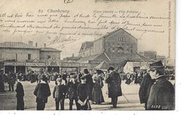 50 - CHERBOURG - T.Belle Vue Animée De La Place De La Divette - Fête Foraine - Cherbourg