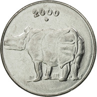 Monnaie, INDIA-REPUBLIC, 25 Paise, 2000, TTB, Stainless Steel, KM:54 - Inde