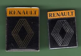 RENAULT *** LOGO NOIR *** Lot De 2 Pin's Differents *** RENAULT-03 - Renault